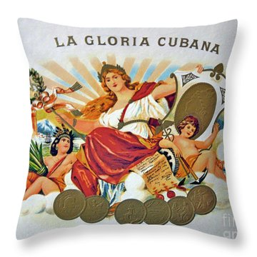 La Gloria Cubana Throw Pillow