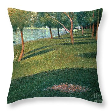 La Grande Jatte Throw Pillow by Georges Pierre Seurat