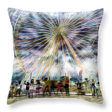 Flash Mob,k-pop, 2ne1 Throw Pillow