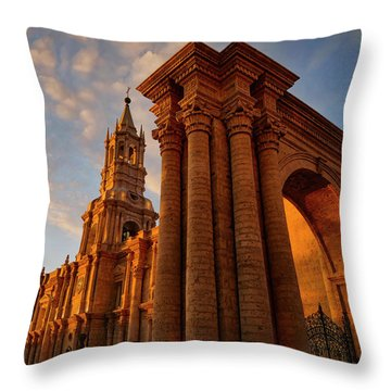 Throw Pillow featuring the photograph La Hora Magia by Skip Hunt