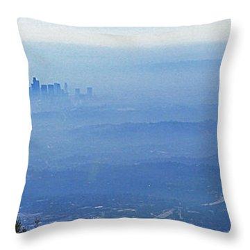 La In Smog Throw Pillow