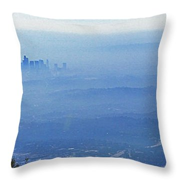 La In Smog Throw Pillow