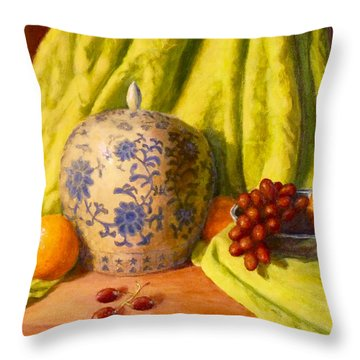 La Jardiniere Throw Pillow