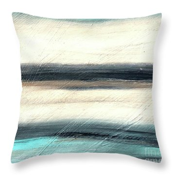 La Jolla #1 Seascape Landscape Original Fine Art Acrylic On Canvas Throw Pillow