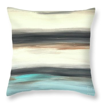 La Jolla #2 Seascape Landscape Original Fine Art Acrylic On Canvas Throw Pillow
