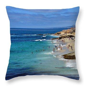 La Jolla Beach Throw Pillow