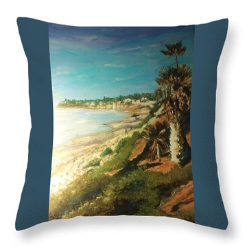 La Jolla Beach Throw Pillow