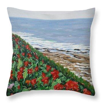 La Jolla Beach, San Diego Throw Pillow