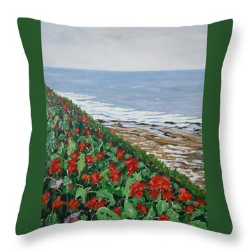La Jolla Beach, San Diego Throw Pillow