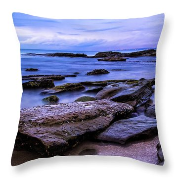 La Jolla Cove Twilight Throw Pillow