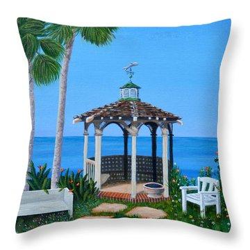 La Jolla Garden Throw Pillow