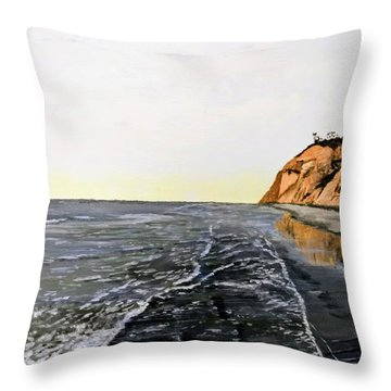 Throw Pillow featuring the painting La Jolla Shoreline by Kevin Daly