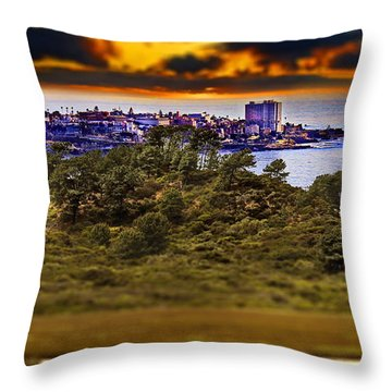 La Jolla Sunset From Del Mar Throw Pillow