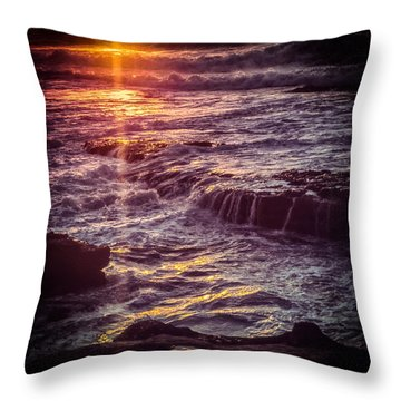 La Jolla Sunset Throw Pillow