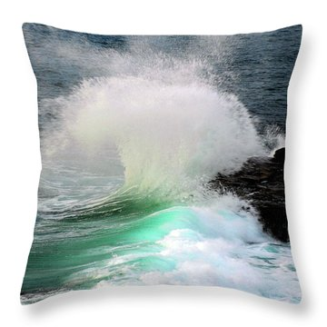 Throw Pillow featuring the photograph La Jolla Surge by Howard Bagley