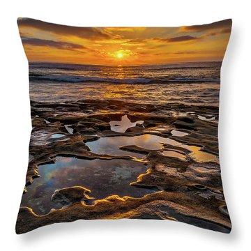 La Jolla Tidepools Throw Pillow