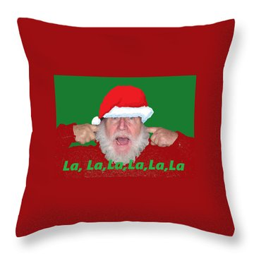 La La La Christmas Throw Pillow