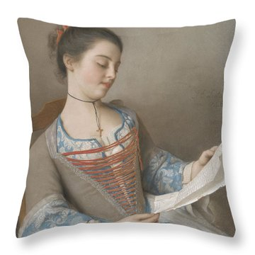 Jean Etienne Liotard Throw Pillows