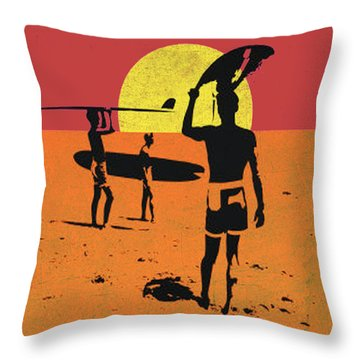 Throw Pillow featuring the digital art La Long Boards by Greg Sharpe