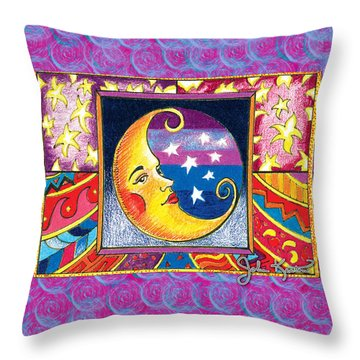 La Luna 1 Throw Pillow by John Keaton
