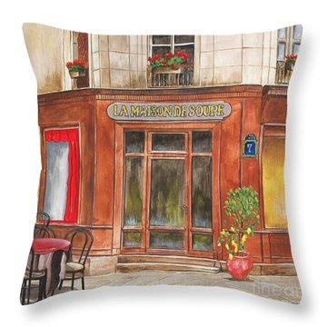 La Maison De Soupe Throw Pillow