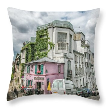 Throw Pillow featuring the photograph La Maison Rose by Alan Toepfer