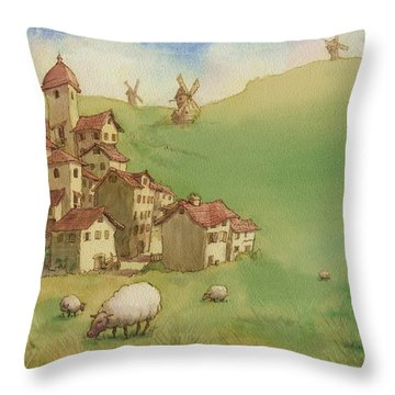 La Mancha Throw Pillow