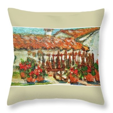 Throw Pillow featuring the painting La Mancha by Mindy Newman