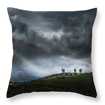 La Mancha Spain Throw Pillow