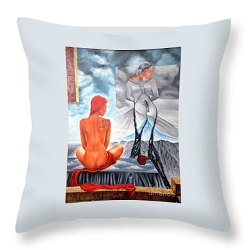 La Marcha Mas Larga Throw Pillow