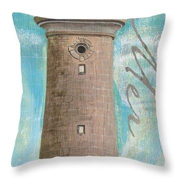 La Mer Lighthouse Throw Pillow