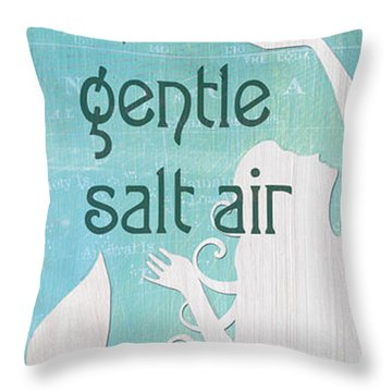 La Mer Mermaid 2 Throw Pillow