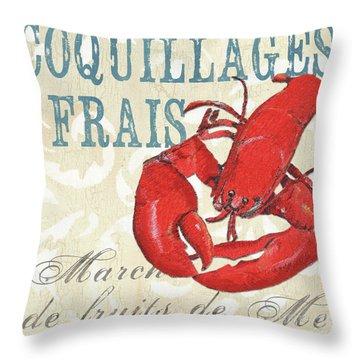 La Mer Shellfish 2 Throw Pillow by Debbie DeWitt
