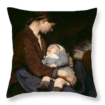 La Mere Throw Pillow by Elizabeth Nourse