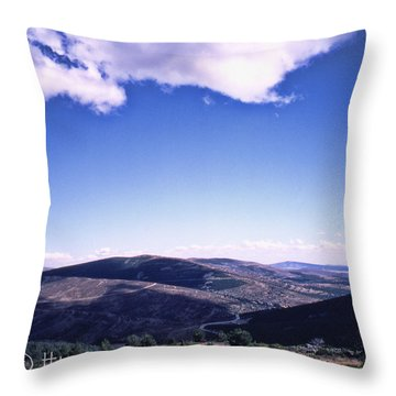 La Meseta En Espana Throw Pillow by Hans Fotoboek