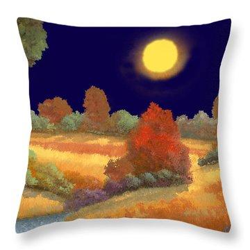 La Musica Della Notte Throw Pillow