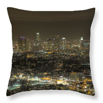 La Nights Throw Pillow