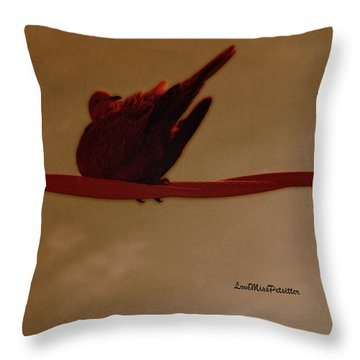 La Paloma Painting Throw Pillow