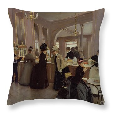 La Patisserie Throw Pillow by Jean Beraud