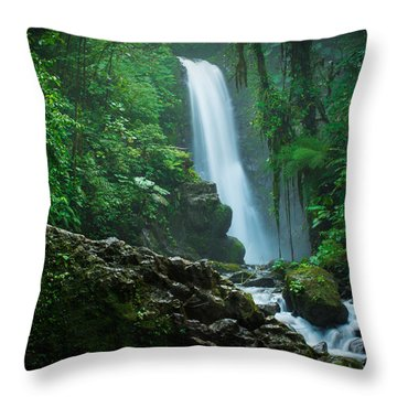La Paz Waterfall Costa Rica Throw Pillow