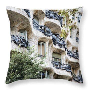 La Pedrera Casa Mila Gaudi  Throw Pillow