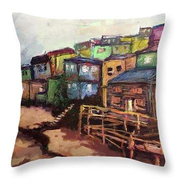 La Perla De Puerto Rico Throw Pillow by Janet Garcia
