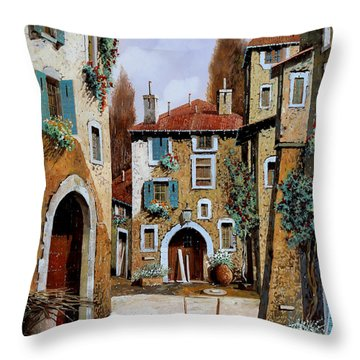 La Piazzetta Throw Pillow