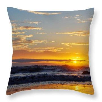 Throw Pillow featuring the photograph La Piedra Sunset Malibu by Kyle Hanson
