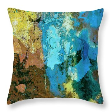 Throw Pillow featuring the painting La Playa by Dominic Piperata