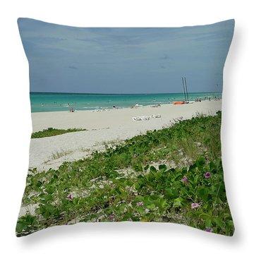 La Playa Mas Hermosa Throw Pillow