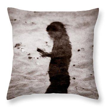 La Poeta Throw Pillow by Michael Mogensen