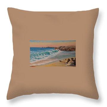 La Pointe Du Raz, Bretagne, France Throw Pillow