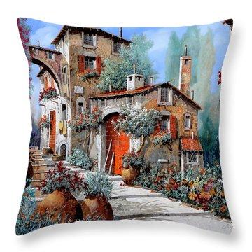 La Porta Rossa Throw Pillow