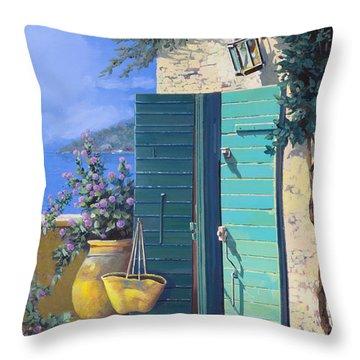 La Porta Verde Throw Pillow by Guido Borelli
